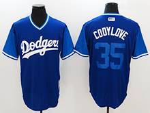 Mens Mlb Los Angeles Dodgers #35 Cody Bellinger ( Codylove) Majestic Navy 2017 Players Weekend Authentic Jersey