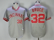 Mens Mlb Majestic Cincinnati Reds #32 Bruce Gray (red Number) Pullover Cool Base Jersey