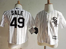 Kids Mlb Majestic Chicago White Sox #49 Chris Sale White Stripe Jersey