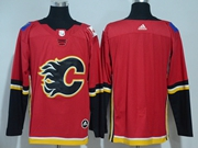 Mens Nhl Calgary Flames Custom Made Red Adidas Jersey