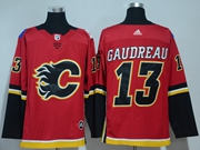 Mens Adidas Nhl Calgary Flames #13 Johnny Gaudreau Red Jersey