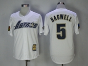 Mens Majestic Houston Astros #5 Jeff Bagwell White Throwback Cool Base Jersey