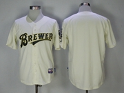 Mens Mlb Milwaukee Brewers Blank White Turn Back Jersey