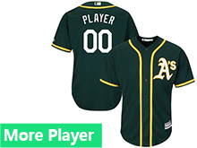 Mens Womens Youth Majestic Oakland Athletics Green Cool Base Jersey