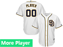 Mens Womens Youth Majestic San Diego Padres White Cool Base Jersey