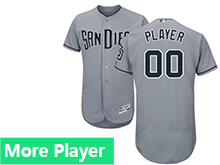 Mens Majestic San Diego Padres Gray Flex Base Jersey