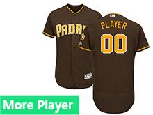 Mens Majestic San Diego Padres Brown Flex Base Jersey
