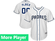Mens Womens Youth Majestic San Diego Padres 2017 White Cool Base Jersey