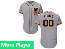 Mens Majestic San Francisco Giants Gray Flex Base Jersey