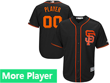 Mens Womens Youth Majestic San Francisco Giants Black Cool Base Jersey
