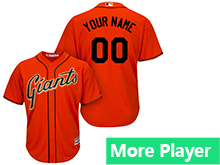 Mens Womens Youth Majestic San Francisco Giants Orange Cool Base Jersey