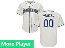 Mens Womens Youth Majestic Seattle Mariners Cream Cool Base Jersey