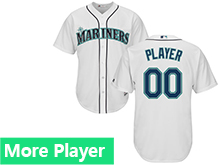 Mens Womens Youth Majestic Seattle Mariners White Cool Base Jersey