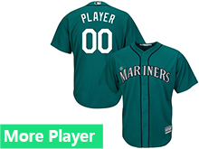 Mens Womens Youth Majestic Seattle Mariners Green Cool Base Jersey