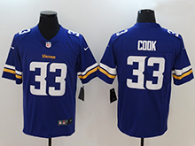 Mens Nfl Minnesota Vikings #33 Dalvin Cook Purple Vapor Untouchable Limited Jersey