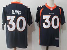 Mens Nfl Denver Broncos #30 Terrell Davis Blue Vapor Untouchable Limited Jersey