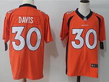 Mens Nfl Denver Broncos #30 Terrell Davis Orange Vapor Untouchable Limited Jersey