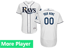 Mens Mlb Majestic Tampa Bay Rays White Flex Base Jersey