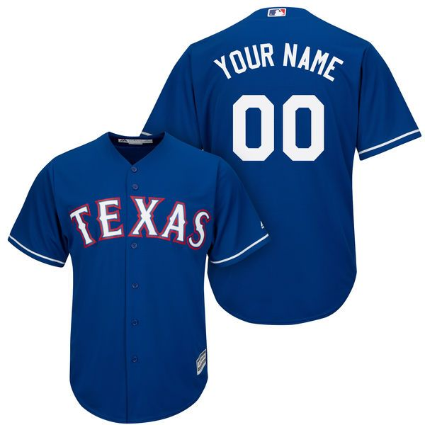 Mens Womens Youth Majestic Texas Rangers Blue Cool Base Jersey