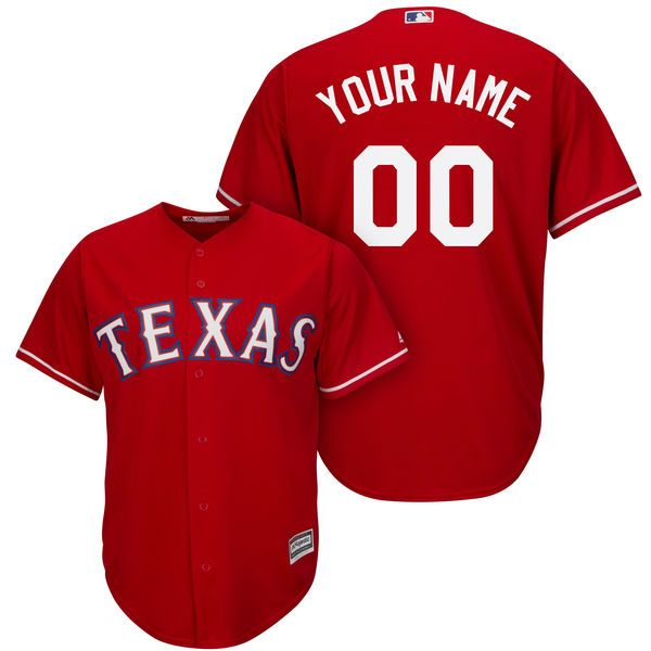 Mens Womens Youth Majestic Texas Rangers Red Cool Base Jersey