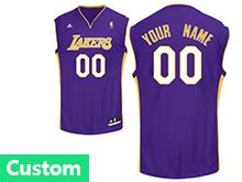 Mens Womens Youth Nba Los Angeles Lakers (custom Made) Purple Jersey