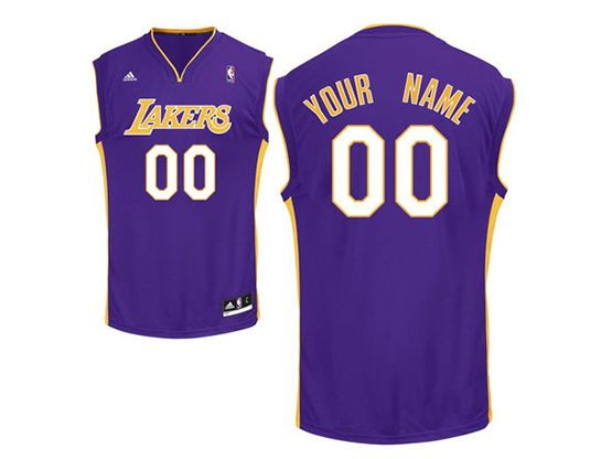Mens Womens Youth Nba Los Angeles Lakers (custom Made) Purple Jersey