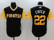 Mens Majestic Mlb Pittsburgh Pirates #22 Andrew Mccutchen Cutch Black 2017 Players Weekend Jersey