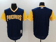 Mens Majestic Mlb San Diego Padres Blank Blue 2017 Players Weekend Jersey