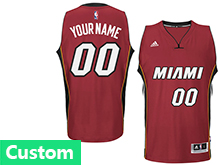 Mens Womens Youth Nba Miami Heat (custom Made) Red Jersey(p)