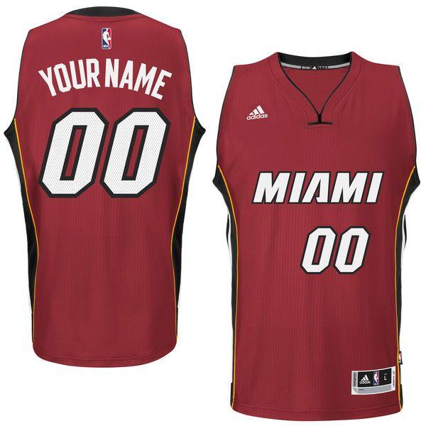 Mens Womens Youth Nba Miami Heat (custom Made) Red Jersey(p)