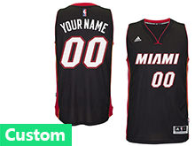 Mens Womens Youth Nba Miami Heat (custom Made) Black Jersey(p)