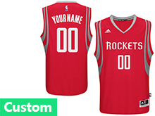 Nba Houston Rockets (custom Made) Red Road Jersey