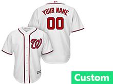 Mens Womens Youth Mlb Washington Nationals (custom Made) White Cool Base Jersey