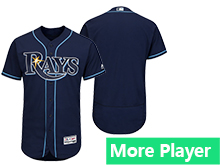 Mens Mlb Majestic Tampa Bay Rays Navy Flex Base Jersey