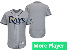 Mens Mlb Majestic Tampa Bay Rays Gray Flex Base Jersey