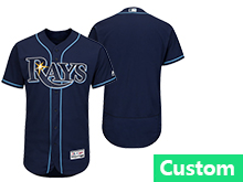 Mens Mlb Tampa Bay Rays (custom Made) Navy Blue Flex Base Jersey