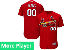 Mens Majestic St. Louis Cardinals Red Flex Base Jersey