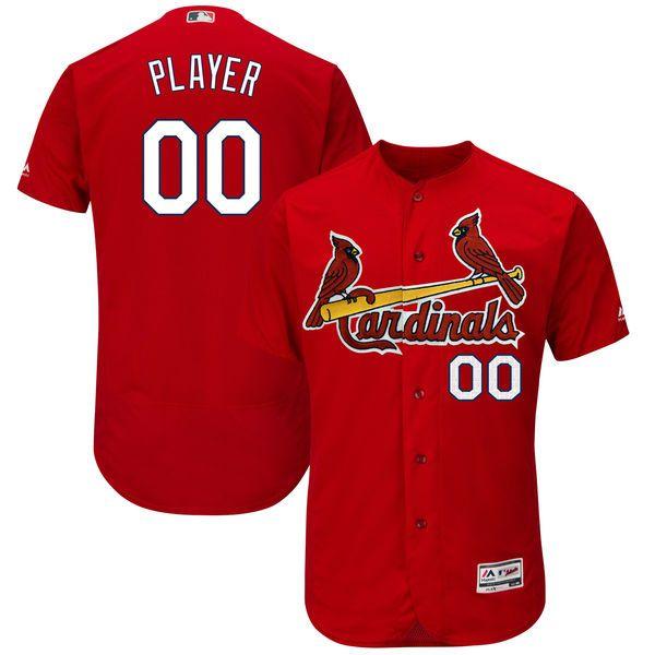 Mens Majestic St. Louis Cardinals Red Flex Base Jersey