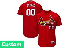 Mens Mlb St.louis Cardinals Custom Made Red Flex Base Jersey