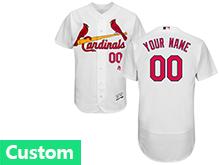 Mens Mlb St.louis Cardinals Custom Made White Flex Base Jersey