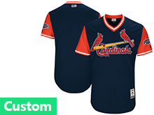 Mens St. Louis Cardinals Majestic Custom Made Navy 2017 Players Weekend Authentic Team Jersey
