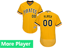 Mens Majestic Pittsburgh Pirates Gold Flex Base Jersey
