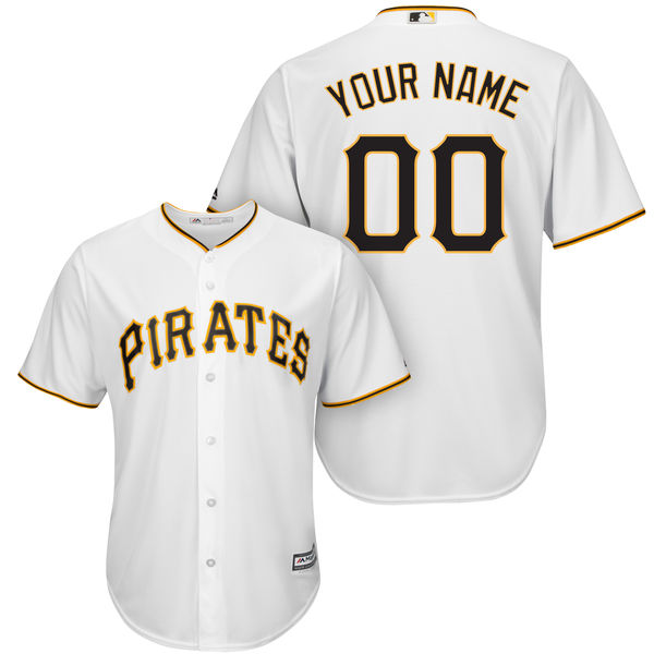 Mens Womens Youth Mlb Pittsburgh Pirates (custom Made) White Cool Base Jersey