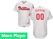 Mens Majestic Philadelphia Phillies White Stripe Flex Base Jersey