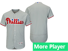 Mens Majestic Philadelphia Phillies Gray Flex Base Jersey