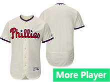 Mens Majestic Philadelphia Phillies Gray Cream Flex Base Jersey