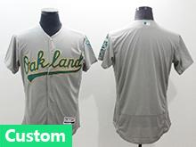 Mens Majestic Oakland Athletics (custom Made) Gray Flex Base Jersey