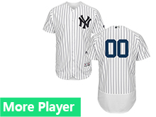 Mens Majestic New York Yankees White Stripe Flex Base Jersey