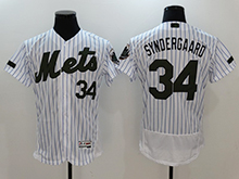 Mens Majestic New York Mets #34 Noah Syndergaard White 2017 Memorial Day Flex Base Jersey