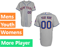 Mens Womens Youth Majestic New York Mets Gray Cool Base Jersey